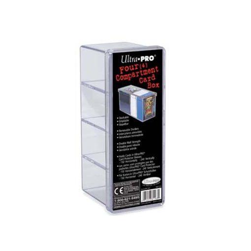 Kártyatartó doboz 4 rekeszes - Áttetsző