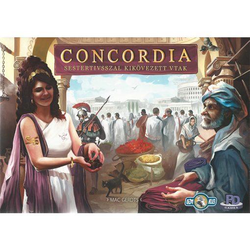 Concordia Sestertiusszal kikövezett utak
