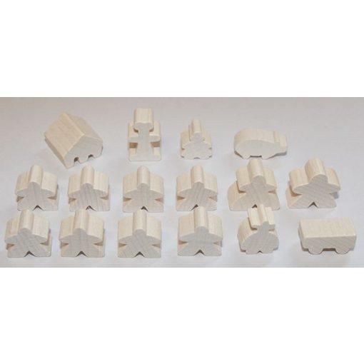 Carcassonne figuraszett (alapjáték és kiegészítők) - fehér