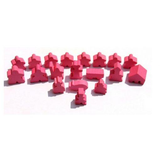 Carcassonne figuraszett (alapjáték és kiegészítők) - rózsaszín
