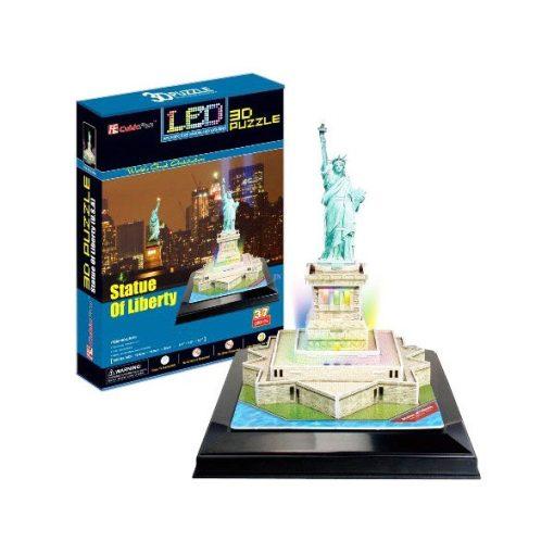 3D puzzle világítós Szabadság szobor - 37 db