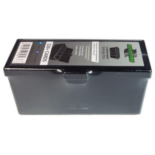 Kártyatartó doboz 4 rekeszes - Fekete