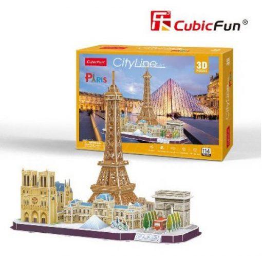 3D puzzle City Line Párizs - 114 db