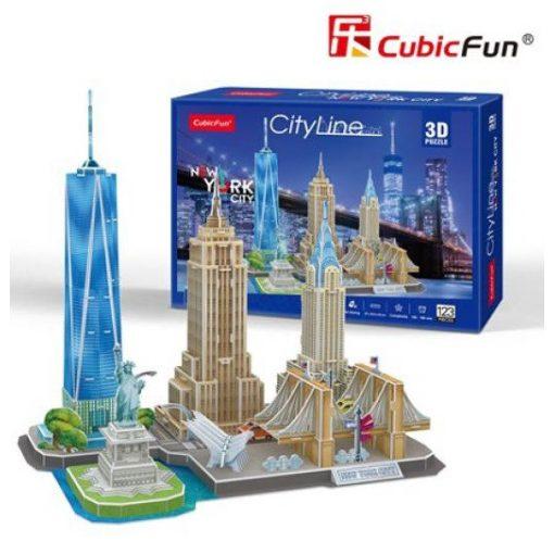 3D puzzle City Line New York - 123 db