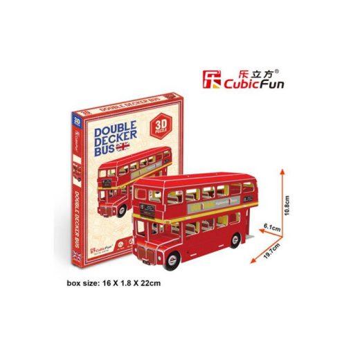 3D puzzle mini Emeletes busz - 66 db
