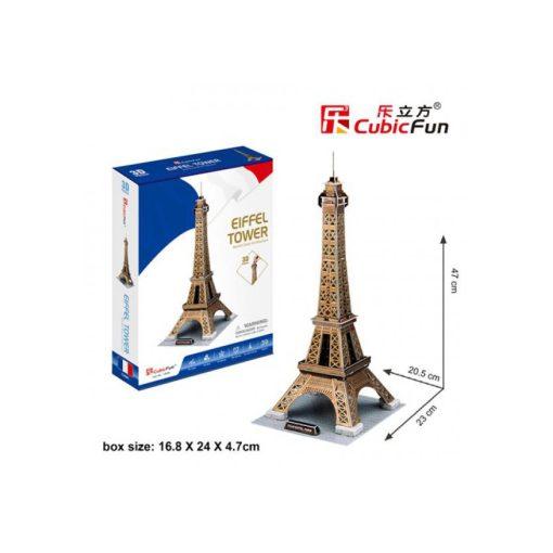 3D puzzle kicsi Eiffel torony arany - 39 db