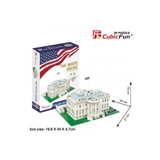 3D puzzle kicsi The White House (2542) - 64 db