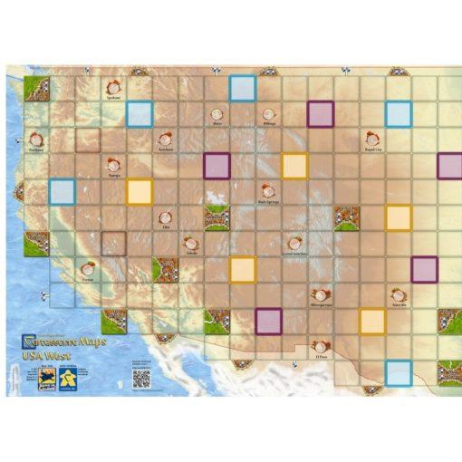 Carcassonne Térkép - USA nyugat