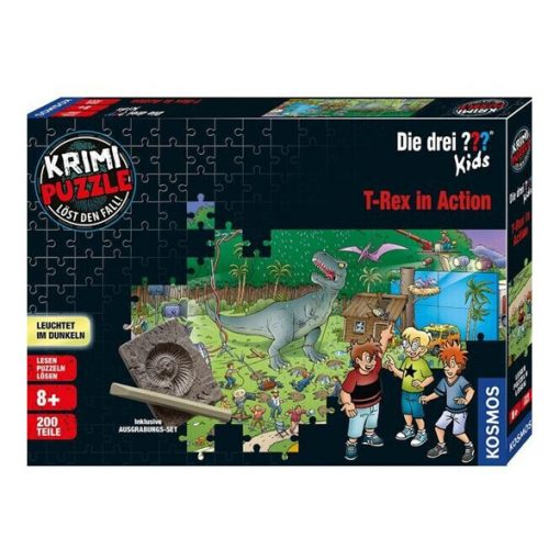 KrimiPuzzle: Die DREI??? Kids - T-Rex in Action 200 db