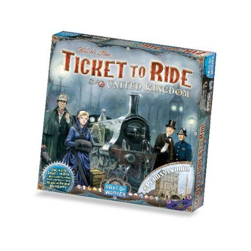 Ticket to Ride Map Coll.: 5 - UK & Pennsylvania (Sérült dobozos!)